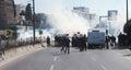 POLICE RELEASED IN KURDISH FEAST NEWROZ,ISTANBUL. Stock Photo
