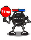 Police robot Royalty Free Stock Photos