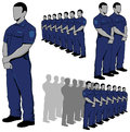 Police security guard vector set eps available Stock Image