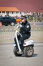 Police segway beijing china march th chinese officer on personal transporter g cargo made by freeyoyo company on tiananmen square Stock Photos