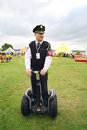 Police on segway at festival ekofest moscow august security guard banks of stroginsky gulf august in moscow russia Royalty Free Stock Photography