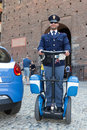 Police on segway roller Stock Photography