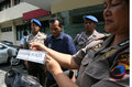 Police showed a robber who was caught in the city of solo central java indonesia Stock Image
