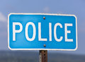 The Police Sign Royalty Free Stock Photo