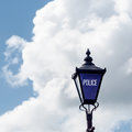 Police sign street light old fashioned uk Stratford Upon Avon Royalty Free Stock Photo