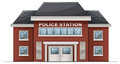 A police station building illustration of on white background Stock Images
