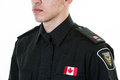 Police student torso view of a details of his uniform and responsible personality Royalty Free Stock Photos