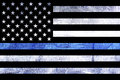 Police Support Flag Thin Blue Line Royalty Free Stock Photo