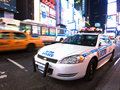 Police in Times Square Royalty Free Stock Photo