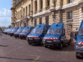 Police vans bus of gendarmerie parked at paris france Stock Photo
