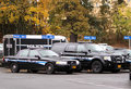 Police vehicles Stock Image