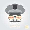 Policeman face in retro style Royalty Free Stock Photography
