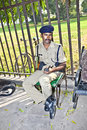 Policeman pays attention in the red fort delhi india november to protects visitors from crime on november delhi india Stock Photography