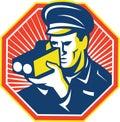 Policeman Police Officer Speed Camera Radar Royalty Free Stock Photo
