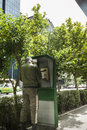 Policeman at street in tehran iran a policemman are dialing the telephone the Stock Photography