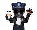 Policemen dog break