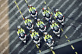 Policemen riding motorcycles Stock Photos