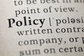 Policy dictionary definition of the word Royalty Free Stock Photography