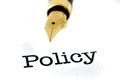 Policy and pen close up ofpolicy Stock Image