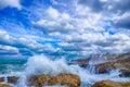 Polignano a Mare BARI, Italy sea storm: heaven on earth Royalty Free Stock Photo