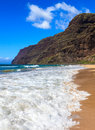 Polihale beach beginning of the napali coast at state park in kauai hawaii islands Stock Image