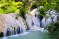 Polilimnio waterfall,peloponnese, greece Stock Photo