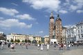 Polish architecture in the city of krakow Stock Photography