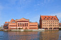 Polish baltic philharmonic gdansk on the island poland Royalty Free Stock Images