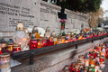Polish cemeteries all saints day on Royalty Free Stock Images