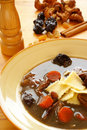 Polish Duck Blood Soup (Black soup -  Stock Photo