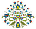 Polish embroidery design inspiration folk traditional with floral Stock Image