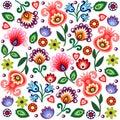Polish folk background