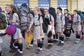 Polish Girl Scouts Royalty Free Stock Photo