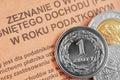 Polish income tax pit Stock Photo