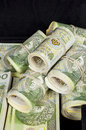 Polish money packed in bundles Stock Photo