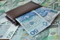 Polish money photo of a bank notes Royalty Free Stock Image