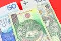 Polish money pln poland Stock Photo