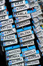 Polish names Royalty Free Stock Photo