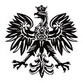 Polish emblem in black color Royalty Free Stock Photo