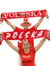Polish soccer fans Stock Images