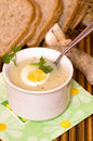Polish sour rye soup Royalty Free Stock Images