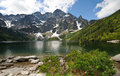 Polish Tatra mountains Morskie Oko lake Royalty Free Stock Photography