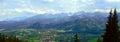 Polish village of Zakopane with beautiful Tatra Mountains in background Royalty Free Stock Photo