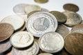 Polish zloty coins close up Royalty Free Stock Photography