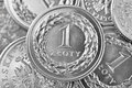 Polish zloty coins one Royalty Free Stock Images
