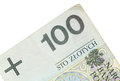 Polish zloty paper money or banknotes currency closeup Royalty Free Stock Photo