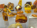 Polished Baltic Amber stones Royalty Free Stock Photo