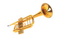 Polished Brass Trumpet Royalty Free Stock Photo