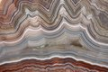 The polished cut of agate with crystal Royalty Free Stock Photography