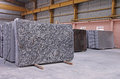 Polished Granite Floor Slabs Stacked in Warehouse Royalty Free Stock Photo